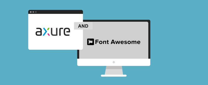 use font awesome in axure